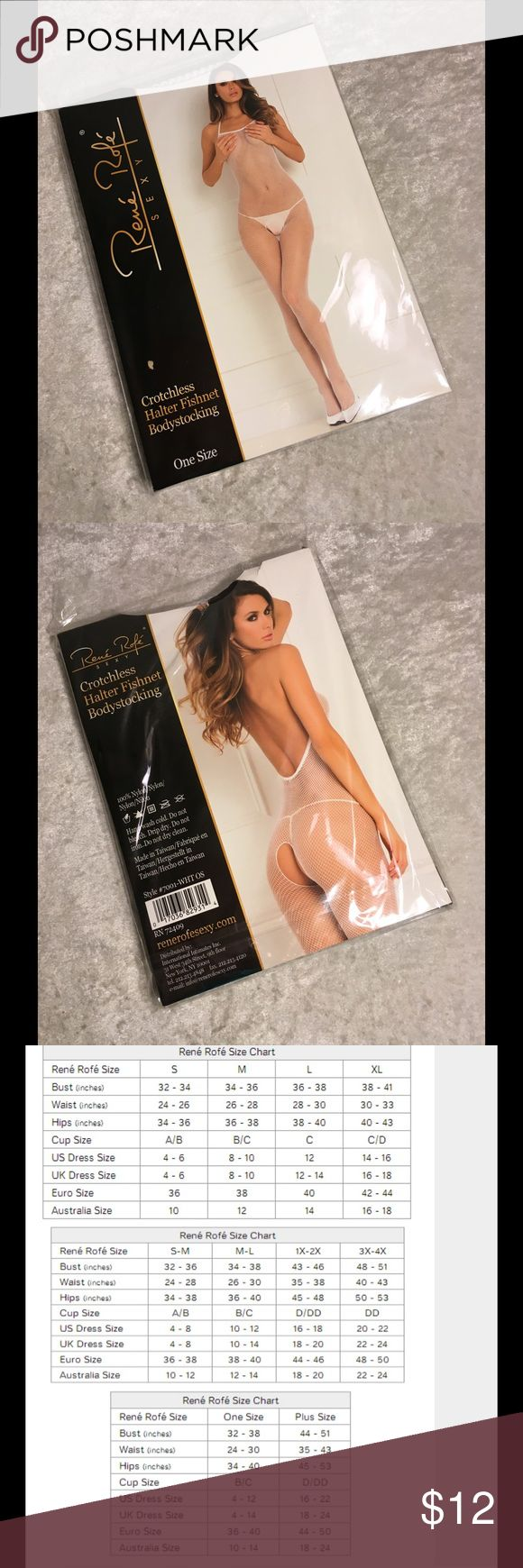 Rene Rofe Crotchless Fishnet Bodystocking 90-160 Brand New Rene Rofe Fishnet Bodystocking  Fits size 90-160lbs ⚜fishnet ⚜Crotchless ⚜great for a bridal gift, bachelorette gift and or wedding gift  ⚜soft comfy material 100% nylon   Lingerie Bodystocking stocking sexy  Not Victoria Secret or Fredrick's of Hollywood Rene Rofe Pants Leggings