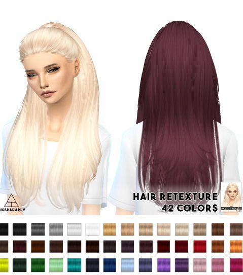 Miss Paraply: Hair retextures – Nightcrawler Break Free • Sims 4 Downloads