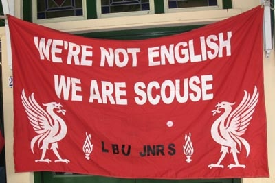 We're not English. We are Scouse.