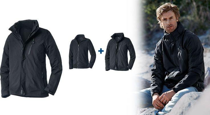 3 az 1-ben férfi kabát minden időjárásra