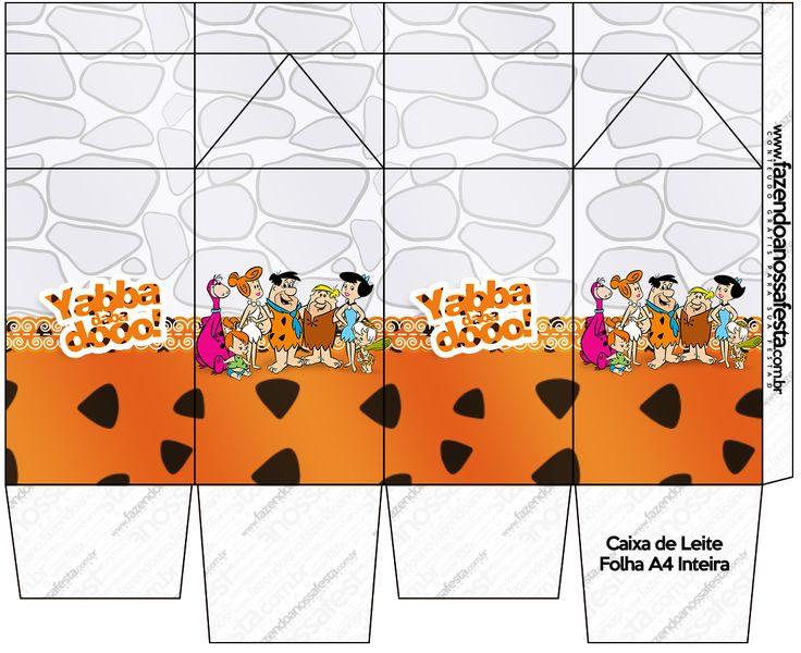 Caixa de Leite Os Flintstones: