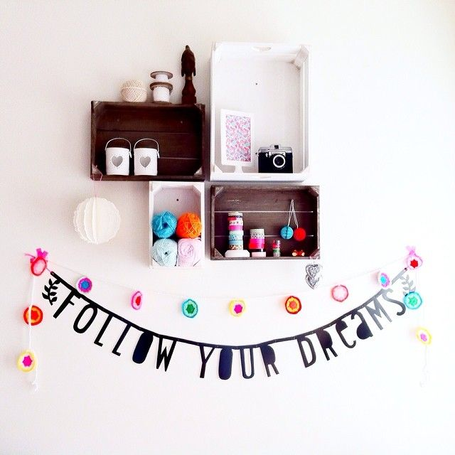 Follow your dreams #wordbanner #crochet Web Instagram User » Followgram www.alittlelovelycompany.nl