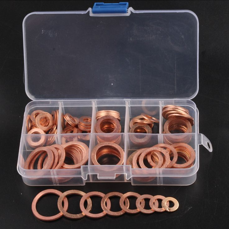 accessories storage box Picture - More Detailed Picture about 120PCS 8 Sizes Solid Copper Washers Sump Plug Assortment Washer Set Plastic Box Professional Hardware Accessories Picture in Washers from KK Fa$hion Space | Aliexpress.com | Alibaba Group