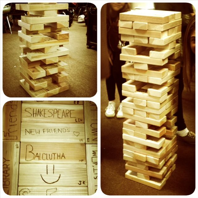 The 8th grade live project: Outdoor Jenga Set! (With ...