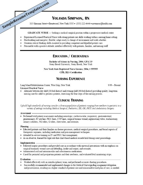 Más de 25 ideas increíbles sobre Student nurse resume en Pinterest - student nurse resume sample
