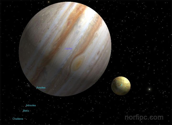 Explorando el planeta Júpiter y sus lunas con el programa Celestia