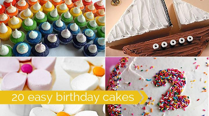 easy to decorate birthday cakes - fun and simple ideas