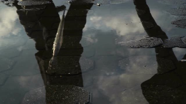 Reflections of The People on Water Surface in Slow Motion Stock Video Footage - VideoBlocks