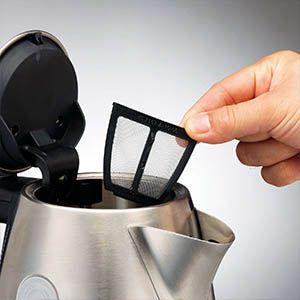 The brushed Stainless Steel Accents Jug kettle from Morphy Richards ensures you have the perfect cuppa with its removable limescale filter. Quick to fit, clean and enjoy!