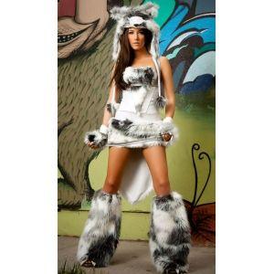 Costume chien Husky en fourrure