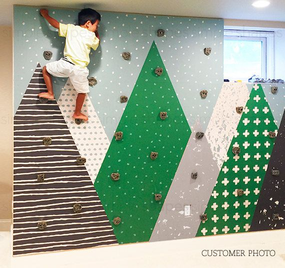 Kids Mountains Green Mountains Extra Large Wall Art Peel And Stick Wall Mural Kids Room