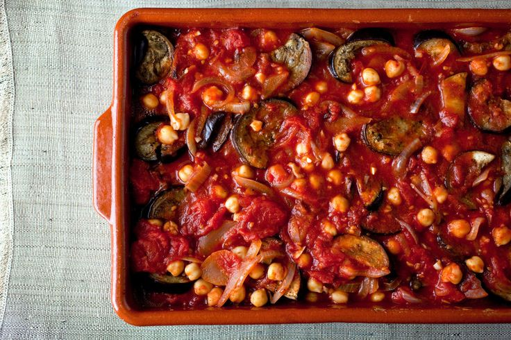 Eggplant, Tomato and Chickpea Casserole: View this and hundreds of ...