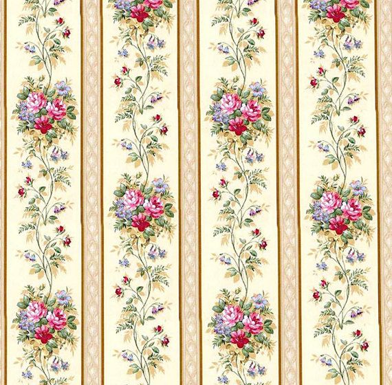 Dolls House Wallpaper 1/12th or 1/24th scale Quality Paper Cream Dollhouse…