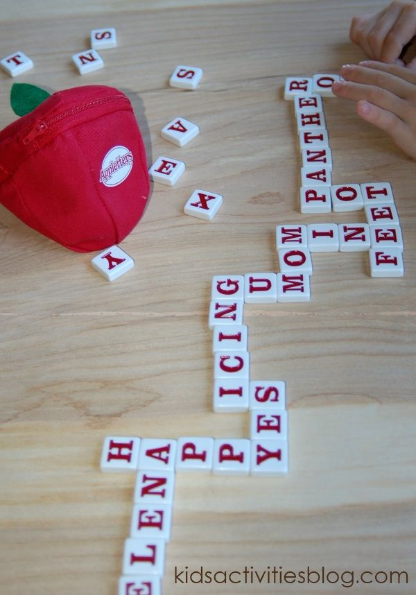 Banana Game: appletters (making our own version of this/these game(s) using colored perm. markers on plain white stackable game pieces.