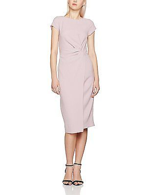 12, Pink, Dorothy Perkins Women's Luxe: Crepe Manipulated Dress NEW