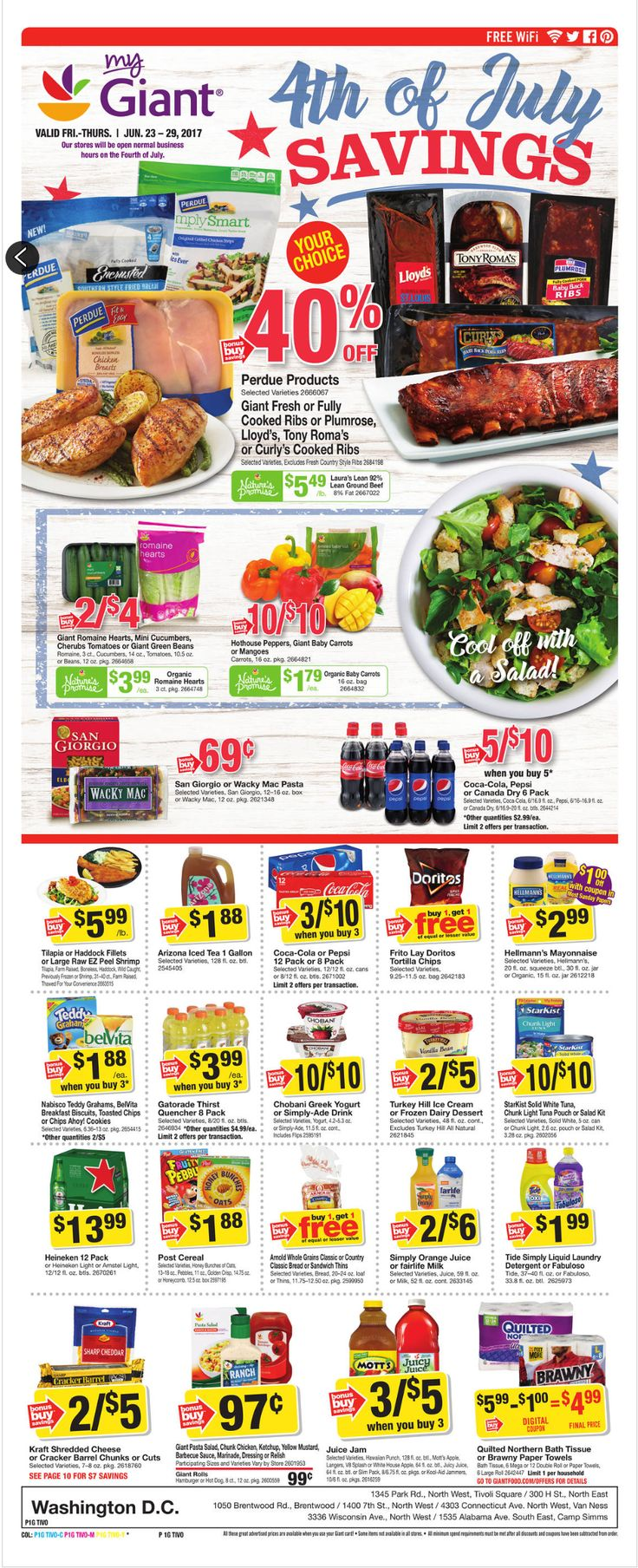 Giant Food Weekly Ad June 23 - 29, 2017 - http://www.olcatalog.com/grocery/giant-food-weekly-ad.html