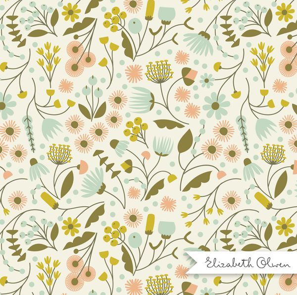 Floral Valley by Elizabeth Olwen #pattern #surfacepattern #floral