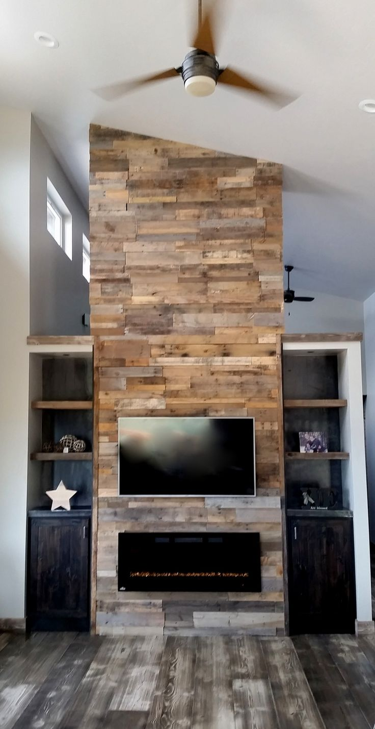 27 best pallet wall images on pinterest fireplace ideas on pallet wall id=96206