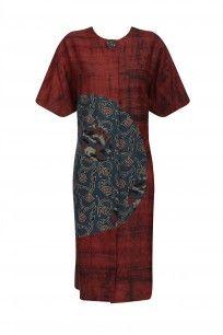 Red and Indigo Floral Printed Tunic #sartorial #shopnow #ppus #happyshopping