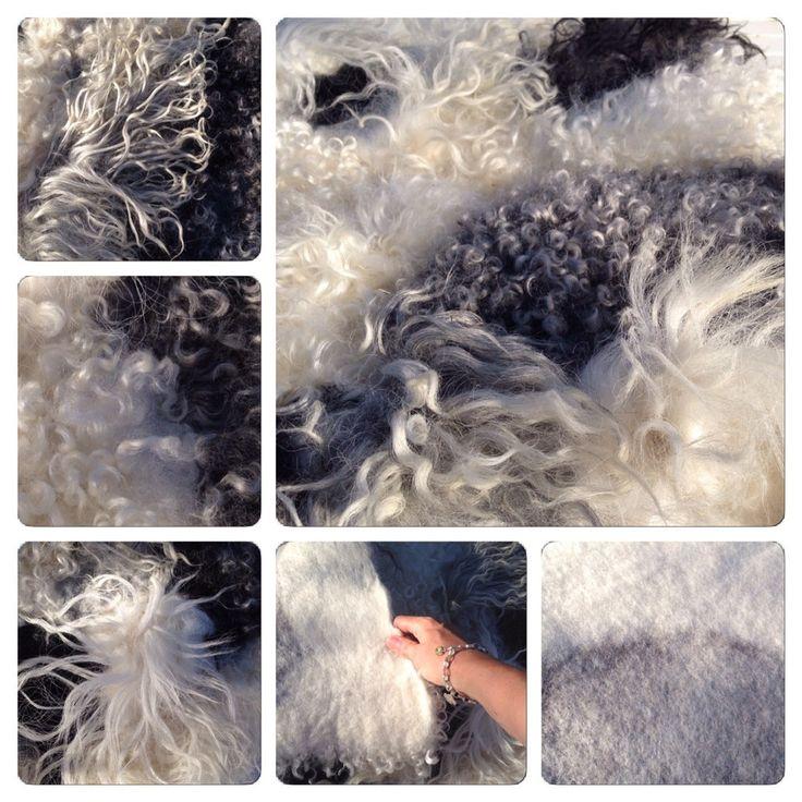 Felt rug from raw fleece - how to.