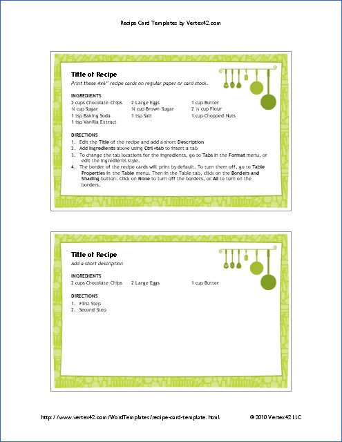 73 best Templates images on Pinterest Food, Cook and Helpful tips - free recipe card templates for microsoft word