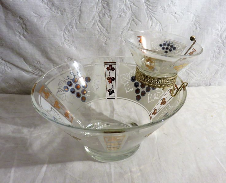 Midcentury Frosted Gold and White Chip and Dip, Anchor Hocking Midcentury Entertaining Bowl, Punch Bowl, Midcentury Modern Gold Decor, by GinnysGirlsTreasures on Etsy