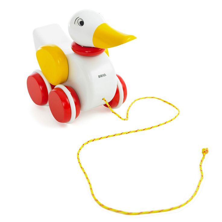 BRIO - Toddler Wooden Pull-A-Long Duck