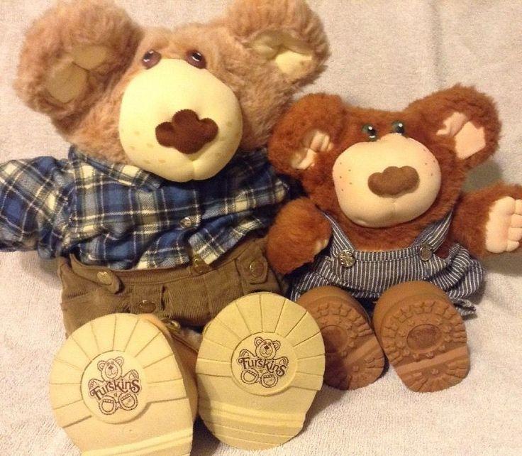 Furskins Bears Boone Beekeeper Bubba Potato Farmer Vtg Xavier Roberts Plush Doll #OriginalAppalachianArtworksInc