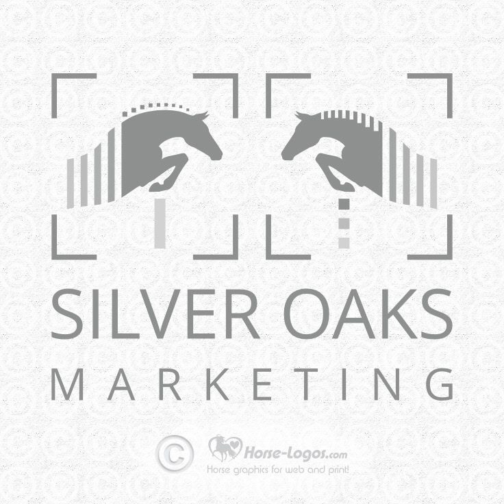 Customized pre-made horse logo design purchased by Lorna Lowrie of Silver Oaks Marketing, LLC silveroaksmarketing.com. Check out my other premade logos @ Horse-Logos.com #horse #logo #design #equine