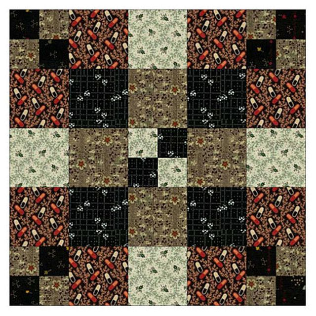 Love Civil War Quilts? Sew Vintage Chains with Reproduction Fabrics: Finish Chain and Knot Quilt Blocks