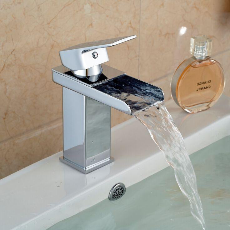 38.86$  Watch now - https://alitems.com/g/1e8d114494b01f4c715516525dc3e8/?i=5&ulp=https%3A%2F%2Fwww.aliexpress.com%2Fitem%2FWaterfall-Bathroom-Sink-Faucet-Chrome-Brass-Hot-Cold-Water-Tap-Deck-Mounted-torneira-para-pia-de%2F32435839785.html - Waterfall Bathroom Sink Faucet Chrome Brass Hot & Cold Water Tap Deck Mounted torneira para pia de banheiro