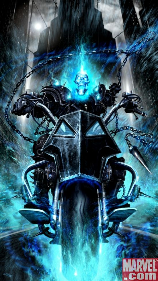 Ghost Rider. I think the character is brilliant - and this illustration makes him more brilliant.