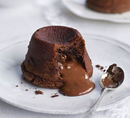 Chocolate fondant recipe - it doesn't get much more indulgent than these classic melt-in-the-middle desserts. #chocolate #recipe