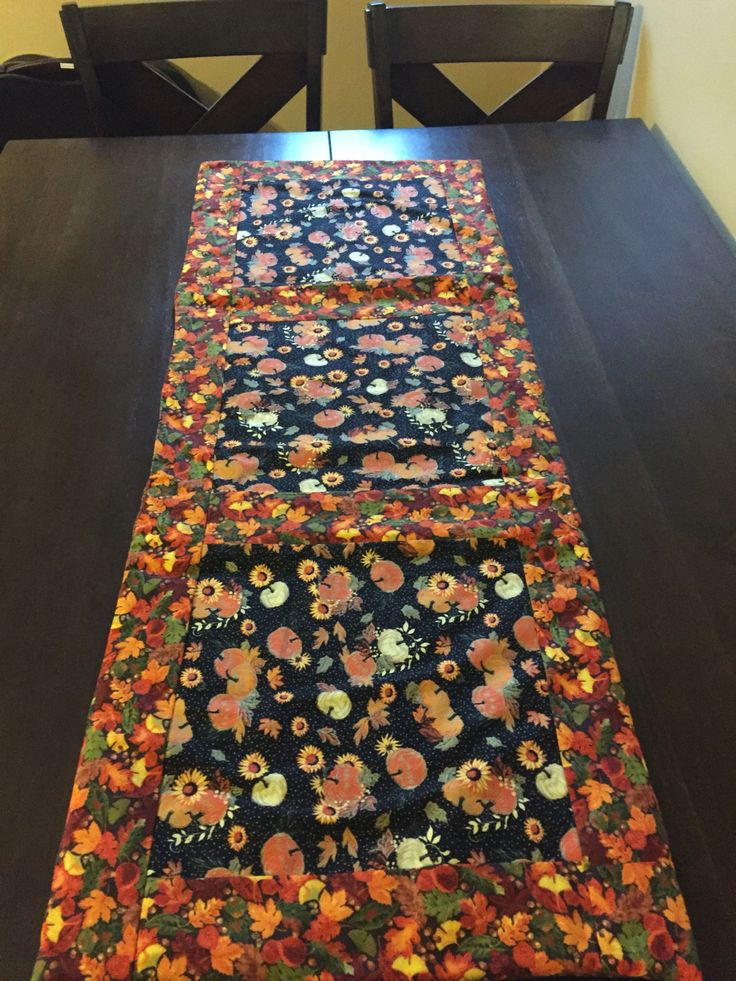 Autumn Harvest Table Runner By QuiltingbyLaura On Etsy