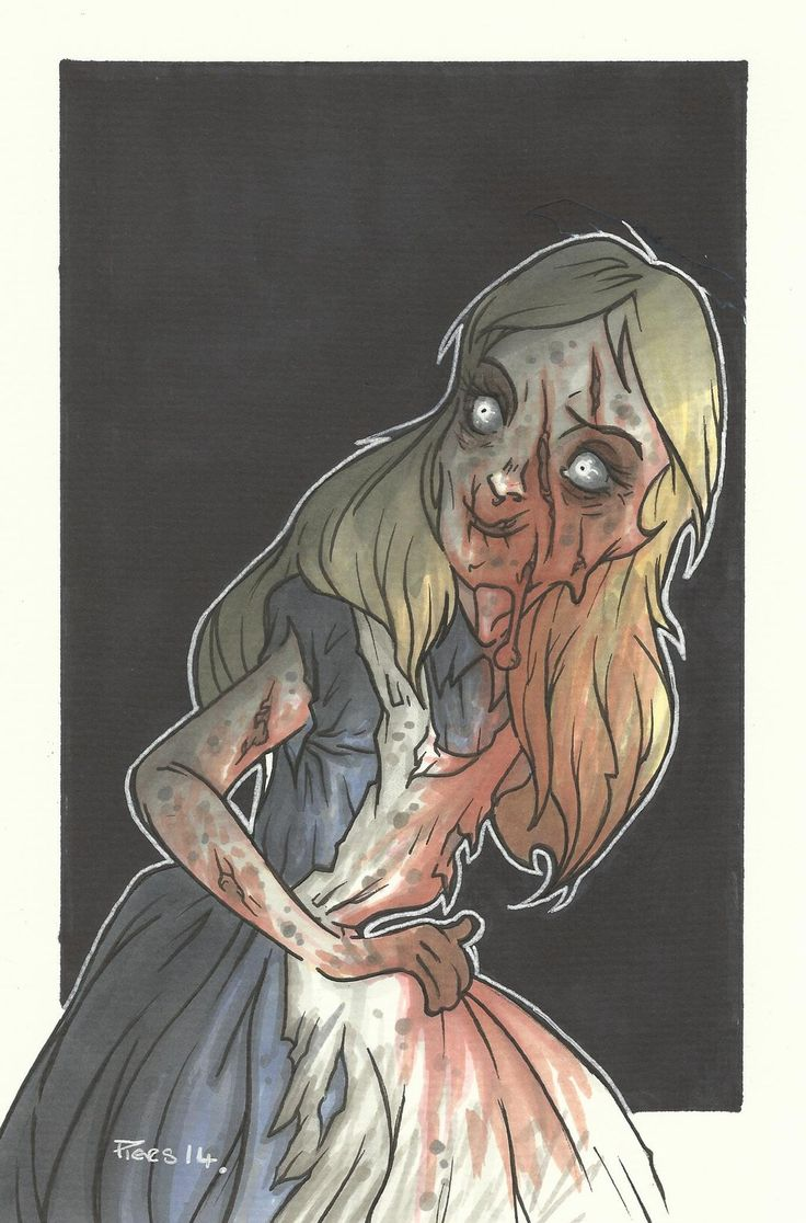DISNEY ZOMBIE MASTERWORKS - ALICE by leagueof1.deviantart.com on @DeviantArt