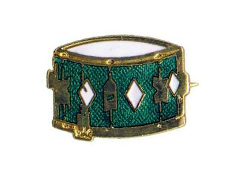 Brooch - Snare Drum - BC Wholesalers. Brooch featuring a Enamelled Drum. Made in England.