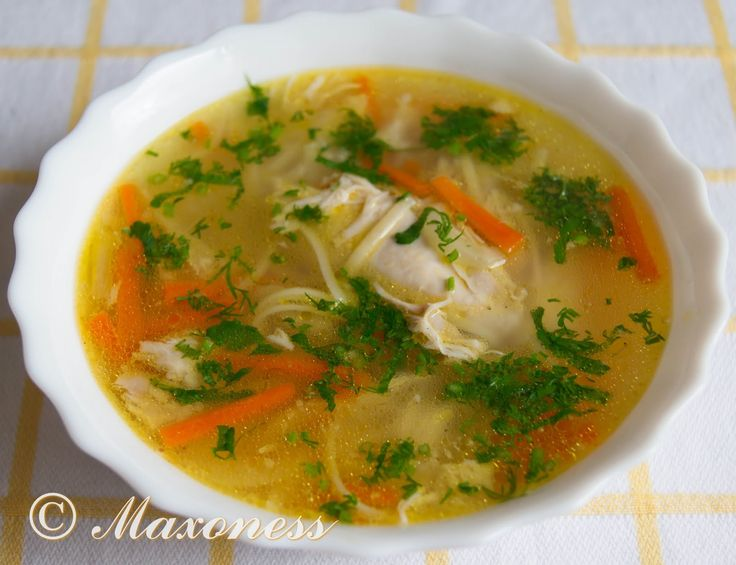 Суп лапша с мясом