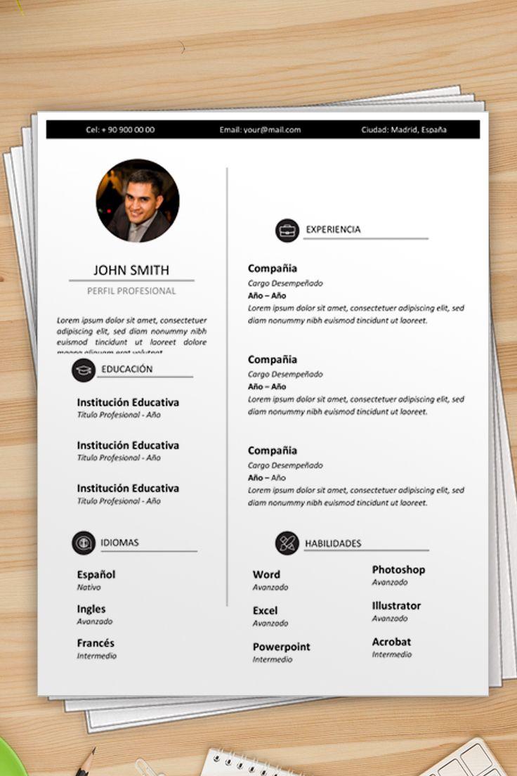 Modelo De Curriculum Vitae En Word Para Descargar Curriculo Para