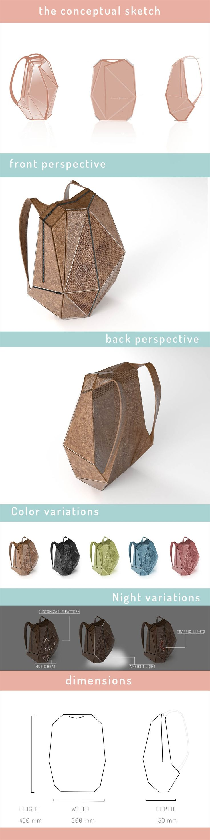 Designs | Create the backpack of the 21 century. The fusion between fashion and technology | Merchandise contest