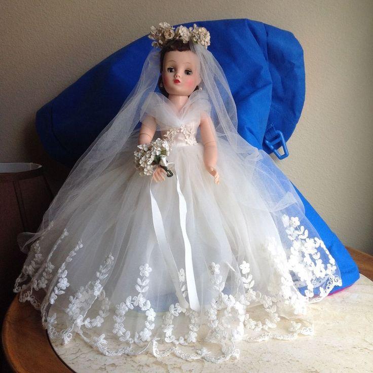 VINTAGE # 1750 ELISE FLORAL WREATH BRIDE by MADAME ALEXANDER #MadameAlexander