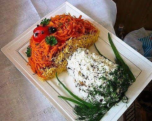 Салат Гриб затмит оливье, очень праздничный, поднимет настроение всех гостей. | Школа шеф-повара