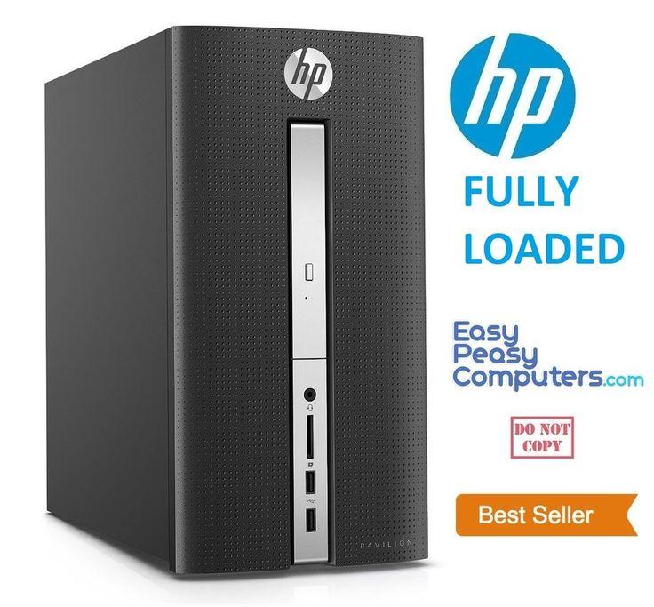 NEW FAST HP Desktop Computer Pavilion 8GB 1TB Windows 10 WIFI DVD (FULLY LOADED) #HP