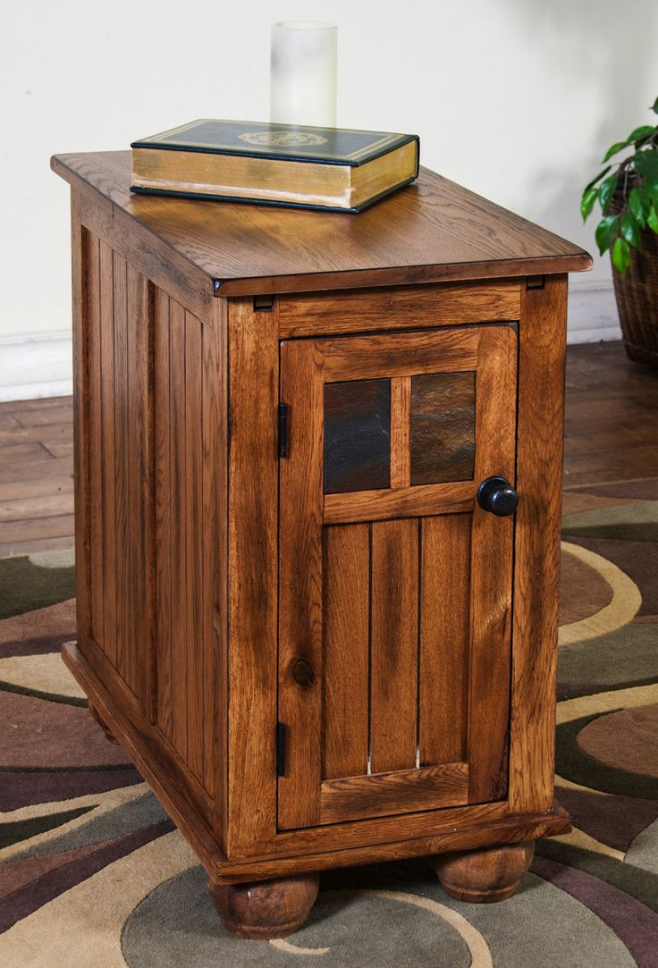 Santa fe wood platform storage bed in dark chocolate by sunny designs - Sedona Chair Side Table Sunny Designs Furniture Home Gallery Stores