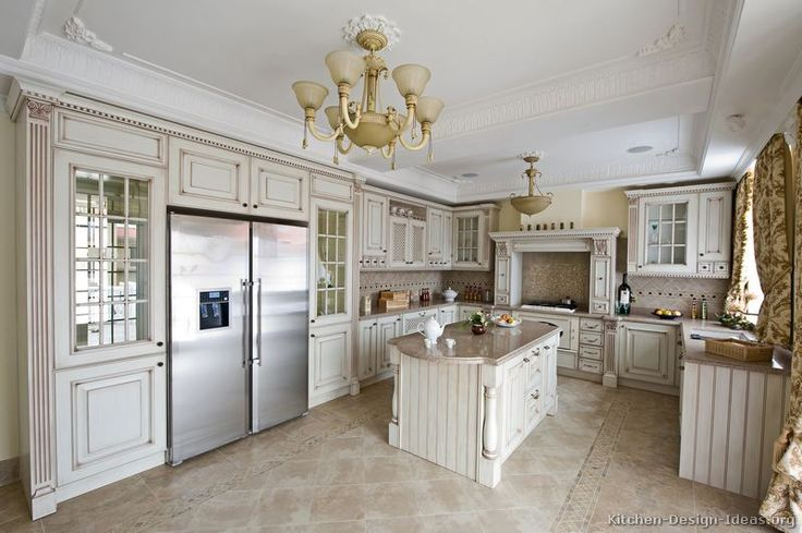 Traditional Antique White Kitchen Cabinets Dream Home