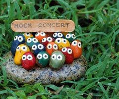 Rock concert! So funny. Got to make this for my garden