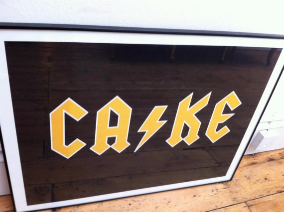 ACDC Cake A2 Gicleé print by JeffreyLouisReed on Etsy, £45.00