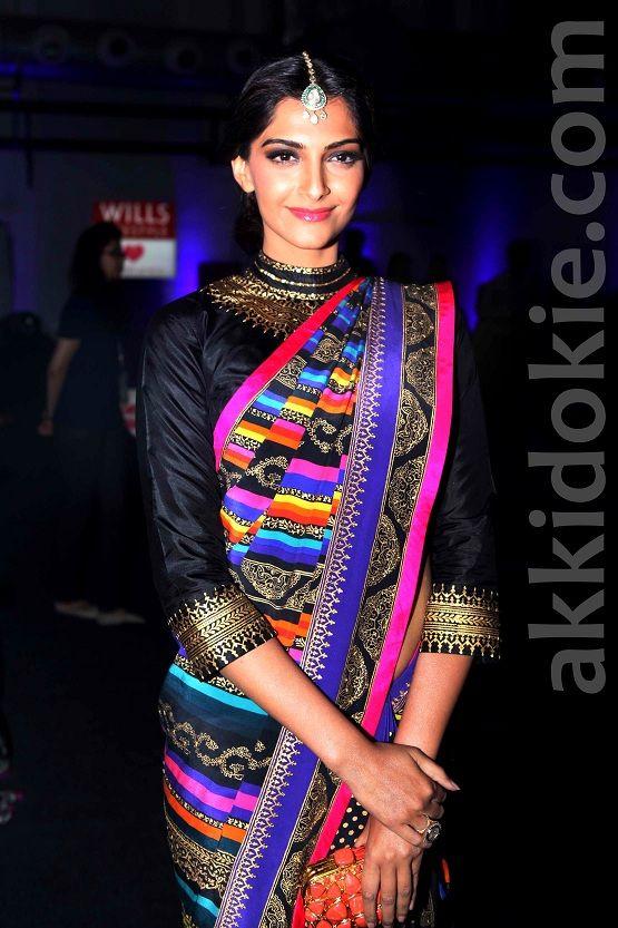 Sonam Kapoor at Wills Lifestyle India Fashion Week AW'13