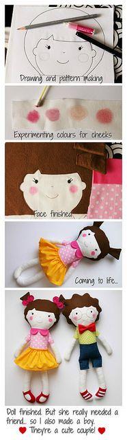 Criação de bonecas - Doll creation by blita, via Flickr