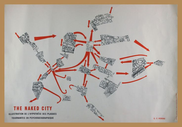 """The Naked City… arrows leading to and from the train station, to St.-Paul, and from the Île St.-Louis, while resolutely ignoring the Bastille. On site you don't need to know its history or its literary pedigree to sense those occult connections and that it is, as Debord put it, a 'turntable'."" — http://www.nybooks.com/articles/archives/2010/dec/23/search-lost-paris/"