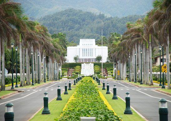 """Laie Hawaii temple."" (From: 30 Beautiful Photos of the Hawaiian Islands)"